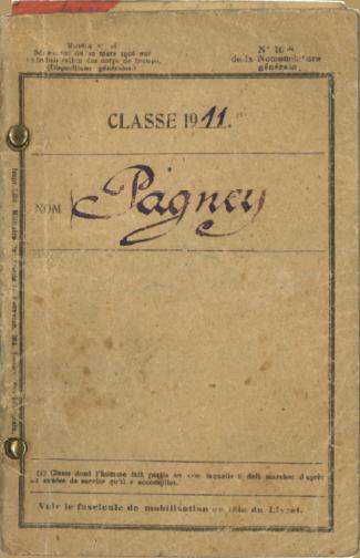 Livret Militaire de René Pagney