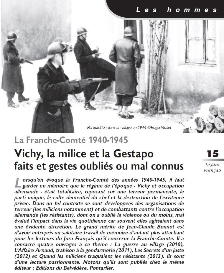 Le Jura Français Les hommes N°301 page 15