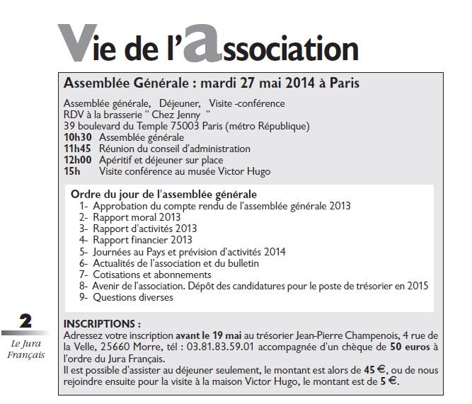 Le Jura Français Vie de l'association N°301 page 2
