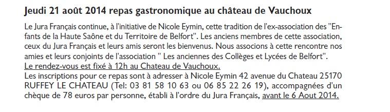 Le Jura Français Vie de l'association N°302 page 3
