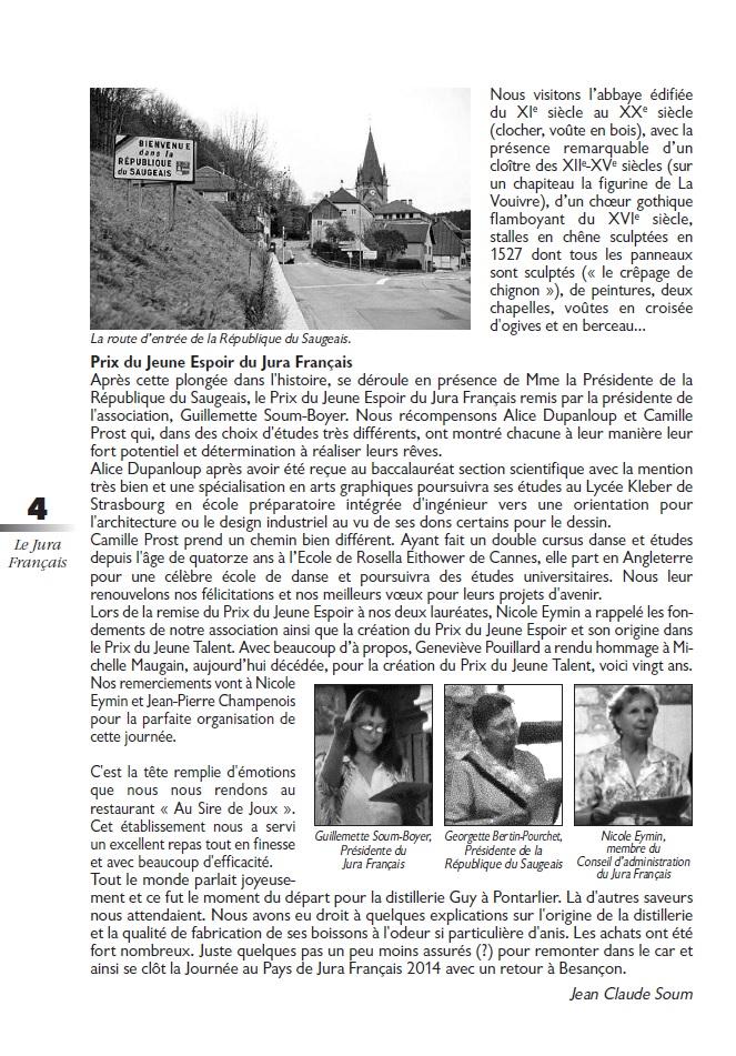 Le Jura Français Vie de l'association N°303 page 4