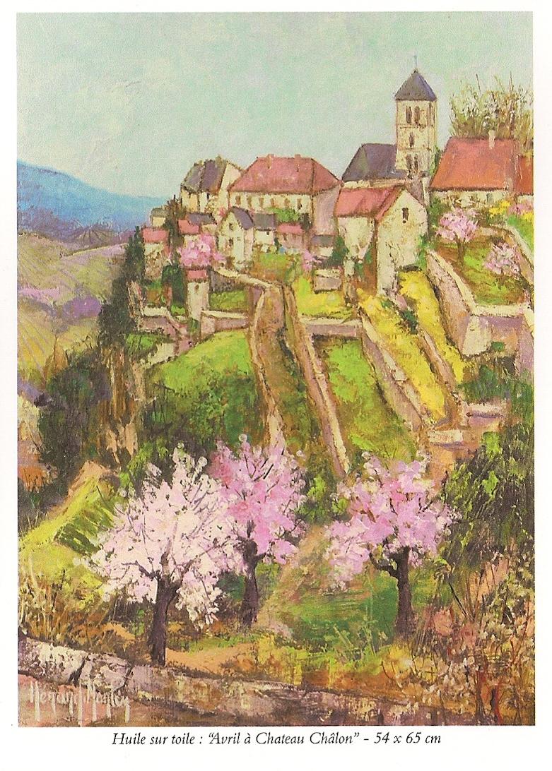 Josette Hérard-Marlin Flyer page 4, Avril à Château Chalon