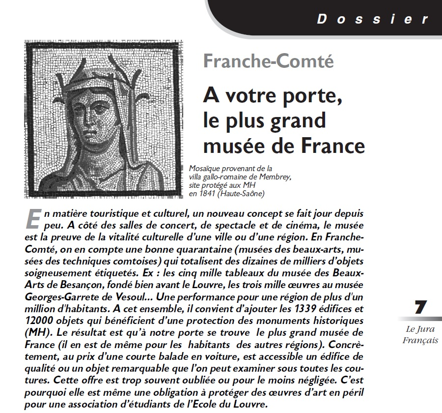 Le Jura Français Dossier N°305 page 7