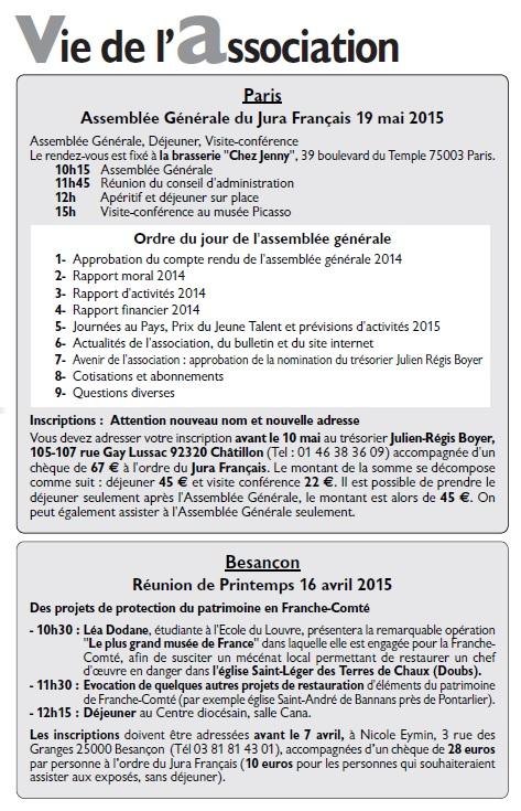 Le Jura Français Vie de l'association N°305