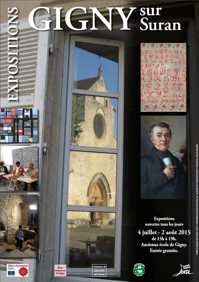 Affiche exposition à l'ancienne école de Gigny