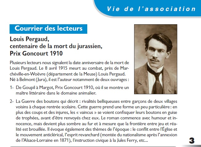 Le Jura Français Courrier des lecteurs N°306