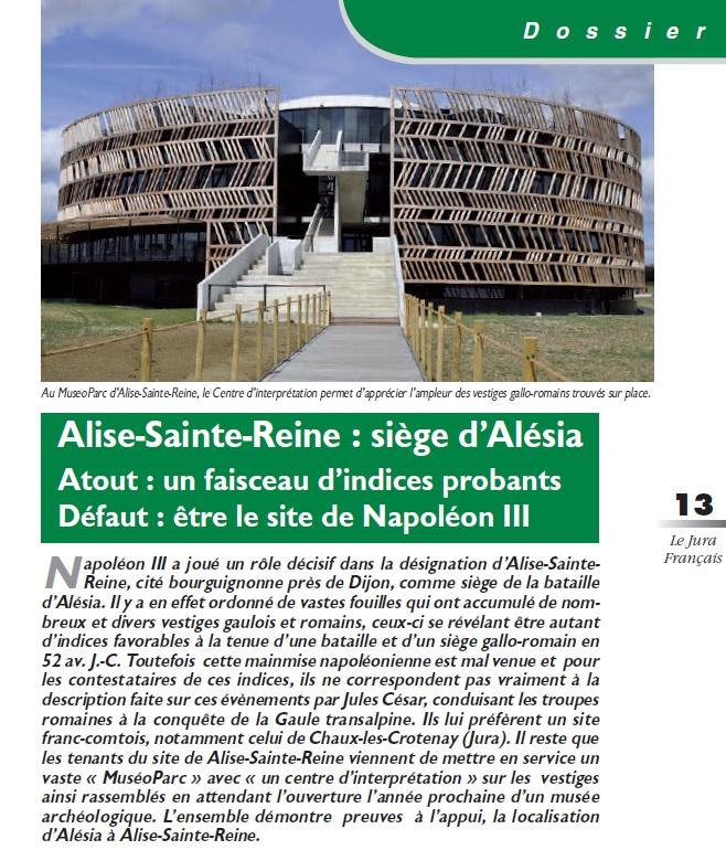 Le Jura Français Dossier ALESIA N°306 page 13