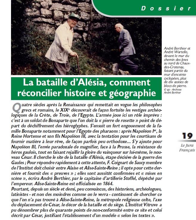 Le Jura Français Dossier ALESIA N°306 page 19