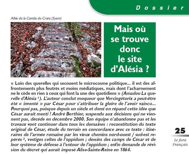 Le Jura Français Dossier ALESIA N°306 page 25
