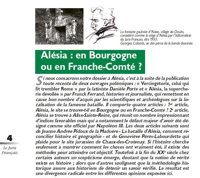 Le Jura Français Dossier ALESIA N°306 page 4