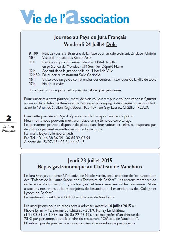 Le Jura Français Vie de l'association N°306