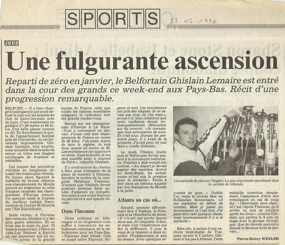 Ghislain Lemaire Prix du Jeune Talent du Jura Francais 1998