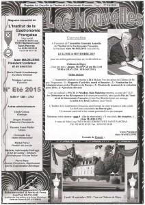 Bulletin de l'Institut de la Gastronomie Française