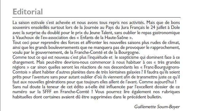 Le Jura Francais Editorial N°307