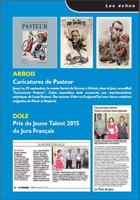 Le Jura Français N°307 Echos 3ieme de couverture