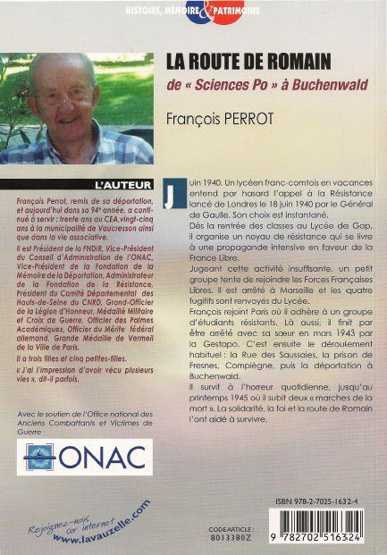 LA ROUTE DE ROMAIN - de Sciences Po à Buchenwald - François PERROT