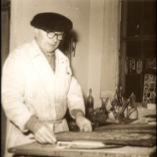 Gigny 2016 Jacques Le Chevallier dans son atelier