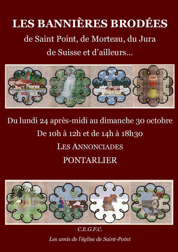 Pontarlier Exposition Les Bannieres Brodees du 24 au 30 octobre 2016