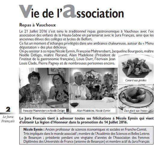 Le Jura Francais Vie de l association N°311 page 2