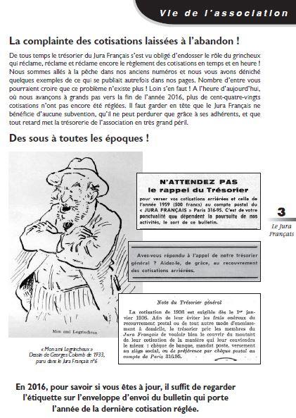 Le Jura Francais Vie de l association N°311 page 3
