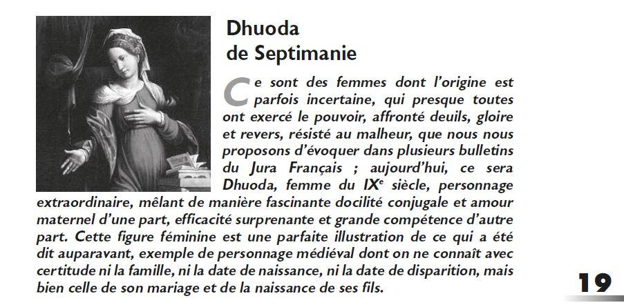 Le Jura Francais Dossier N°312 page 19 par J.A. Pidoux de la Maduere