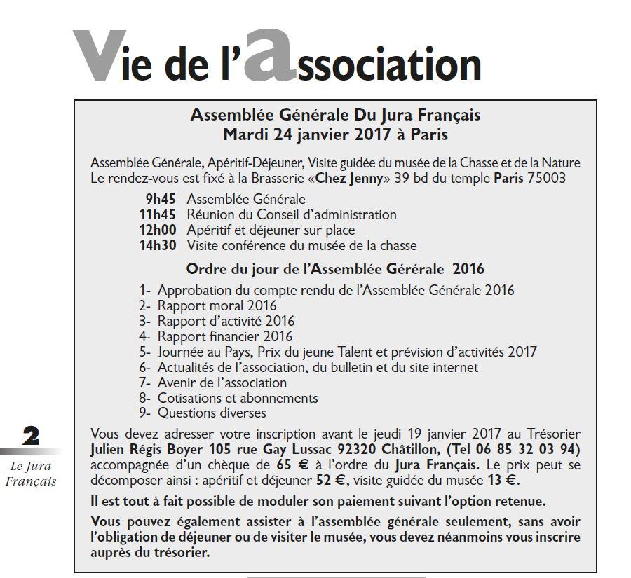 Le Jura Francais Vie de l association N°312 page 2