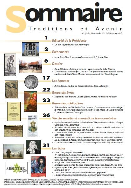 Sommaire Jura Francais N 314 Mai - Aout 2017
