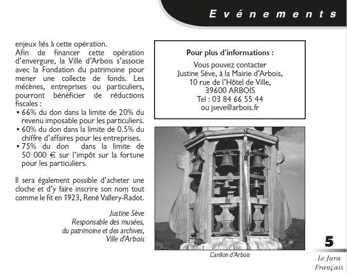 Le Jura Francais Evenements N 314 page 5