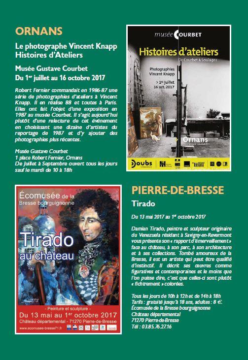 Le Jura Francais N°314 Echos 4ieme de couverture