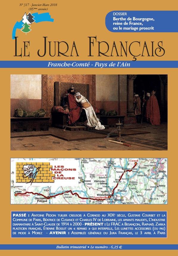 Jura Francais N 317 Janvier - Mars 2018 Premiere de couverture