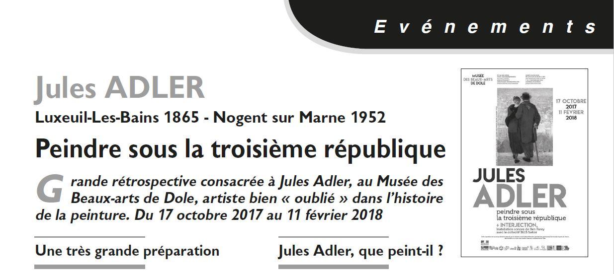 Le Jura Francais Evenements N°315-316 page 9 Jules ADLER