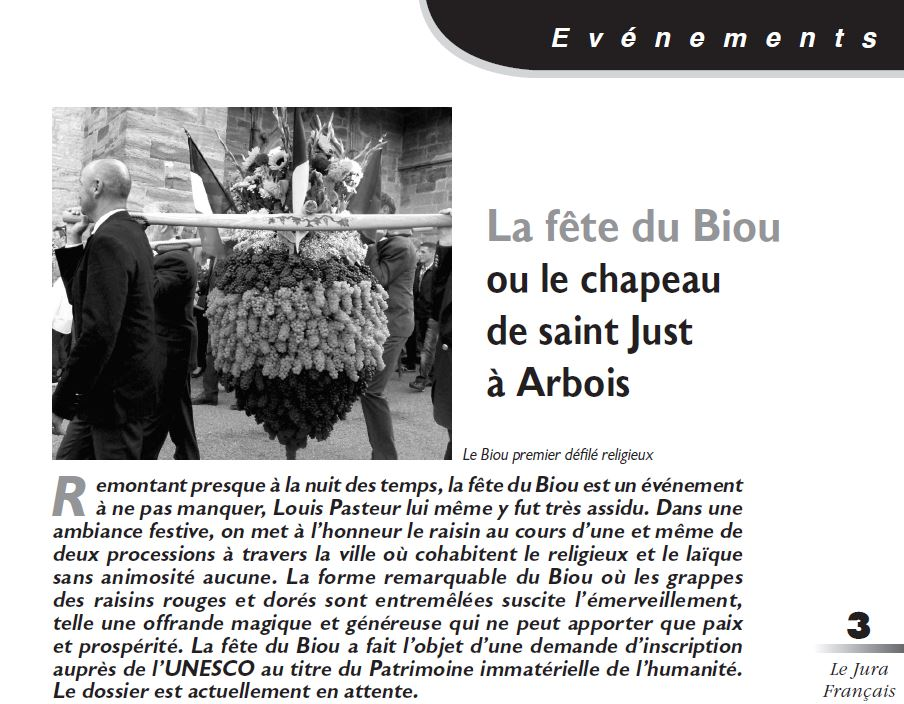 Le Jura Francais Evénements N 317 page 3