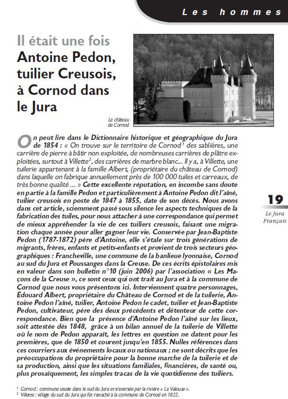 Le Jura Francais Les hommes N 317 page 19