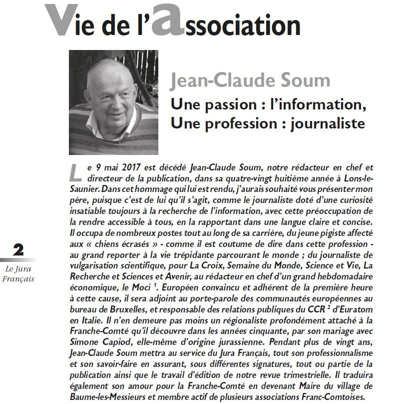 Le Jura Francais Vie de l'association N 315-316 page 2