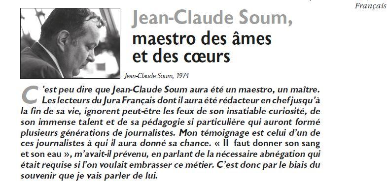Le Jura Francais Vie de l'association N 315-316 page 7