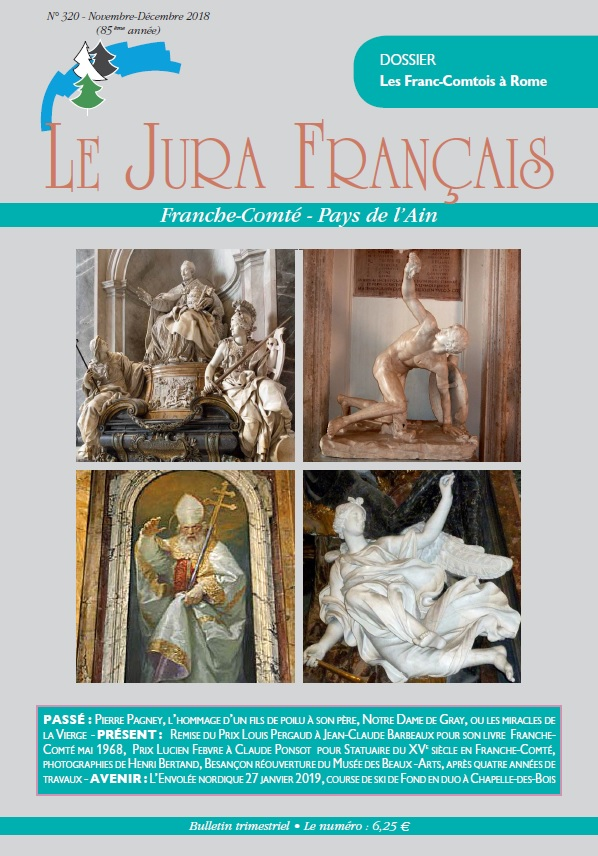 Couverture du Jura Français N 320 Novembre - Décembre 2018