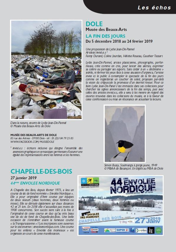 Le Jura Français N 320 Echos 3ieme de couverture