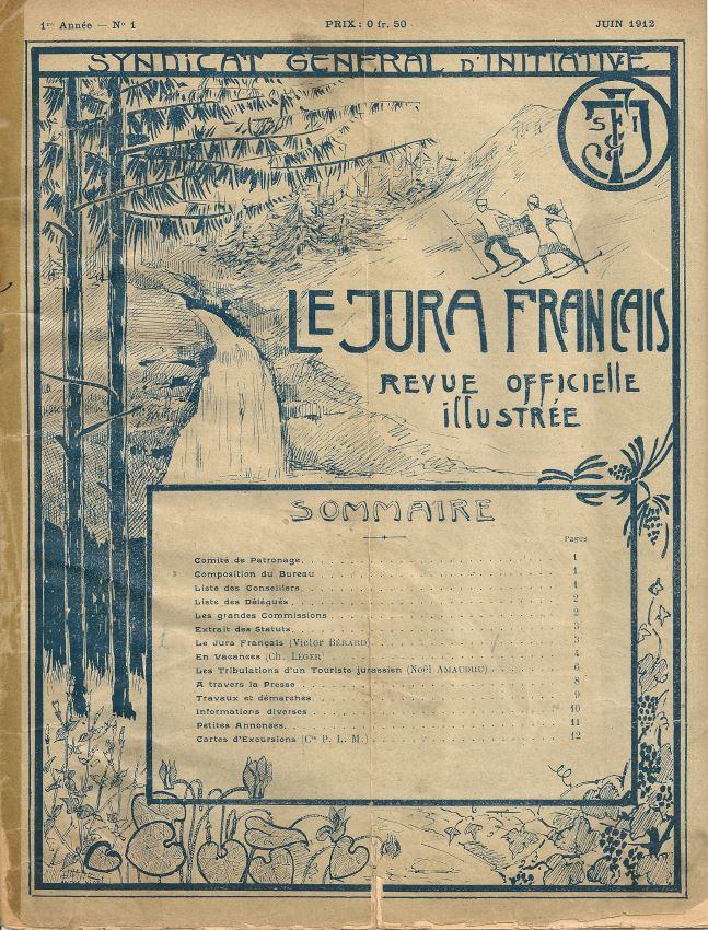 Couverture numéro 1 du Jura Francais en juin 1912