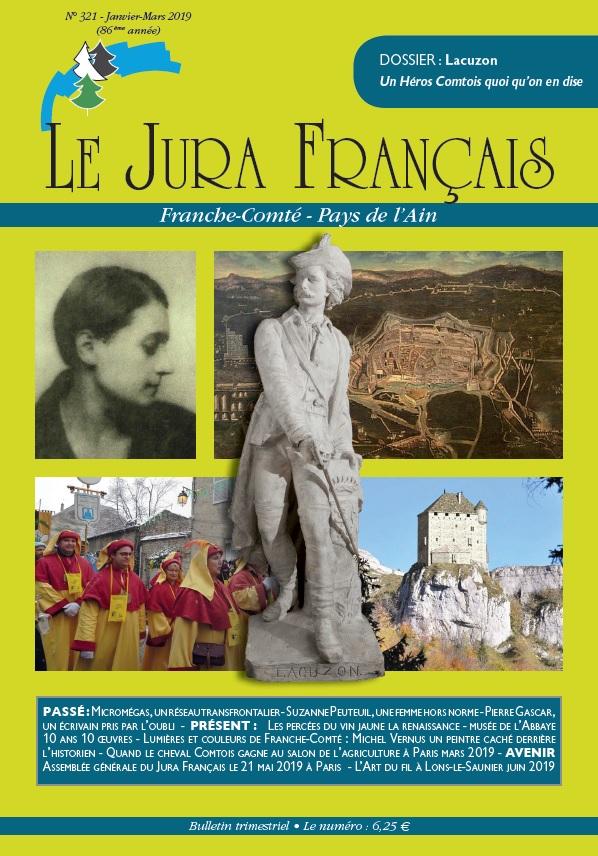 Couverture du Jura Français N 321 Janvier - Mars 2019