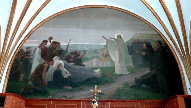 Les adieux de saint Claude aux Bisontins, par Joseph Aubert