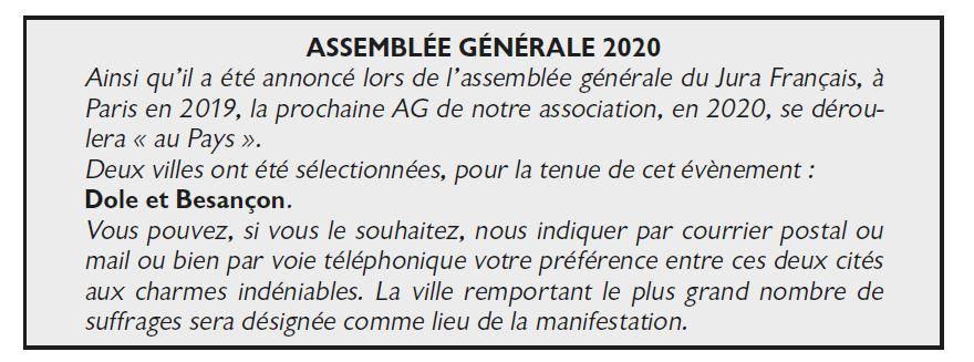 Le Jura Francais Vie de l'association N 323 page 2