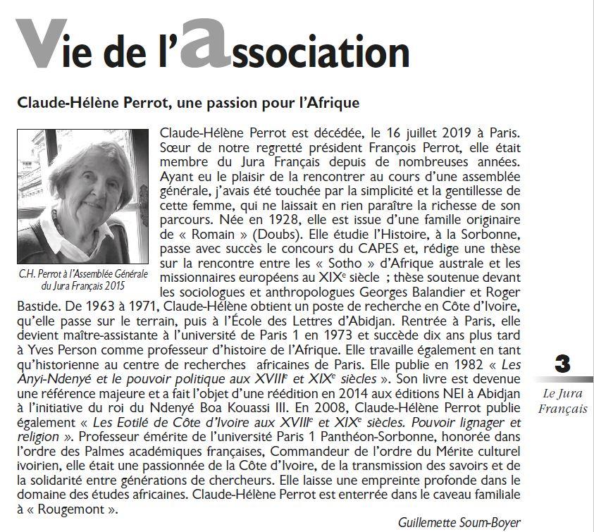 Le Jura Francais Vie de l'association N 324 page 3