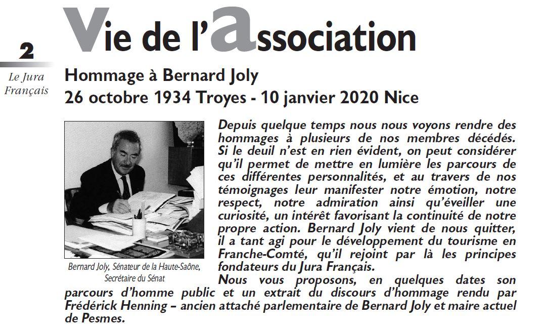 Le Jura Francais Vie de l'association N 325 page 2