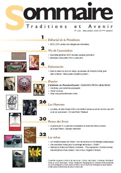 Sommaire Jura Francais N 326 - Mai-Juillet 2020