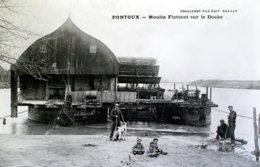 pontoux-moulin flottant