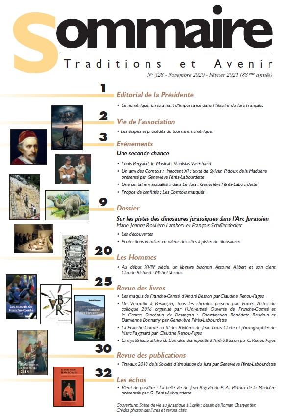 Sommaire Jura Francais N 328 Novembre 2020 - Fevrier 2021
