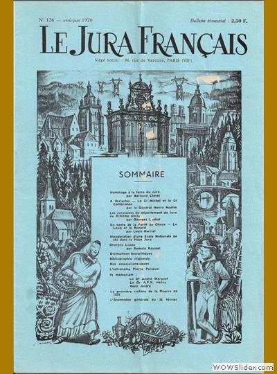 Le Jura Français N° 126 1970