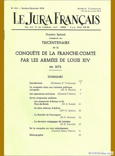 Le Jura Français N° 144 1974