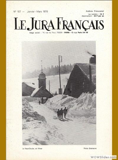 Le Jura Français N° 157 1978