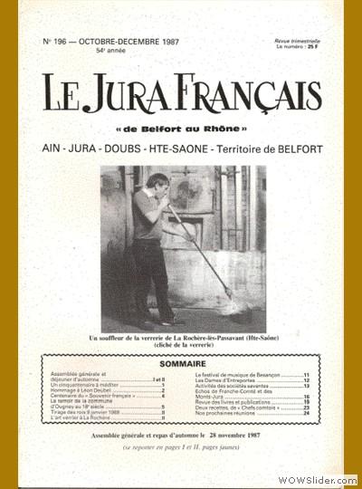 Le Jura Français N° 196 1987